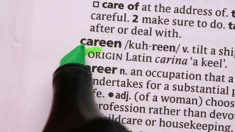 Career circled with green highlighter Footage
