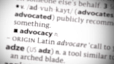 Focus on advocacy Footage