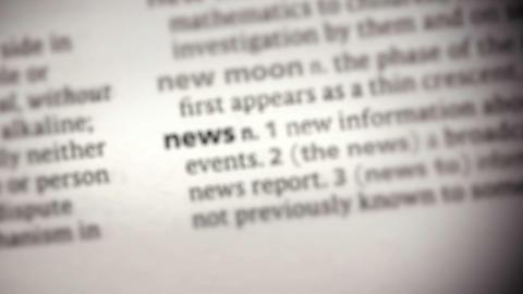 Focus on news Footage