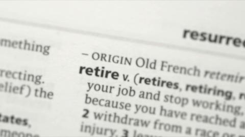 Focus on retire Footage