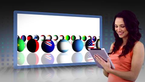 Business montage reflecting international commerce Animation