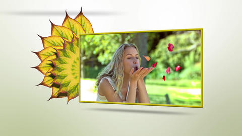Animation with screens showing people blowing Animation