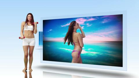 Working towards that bikini body montage Animation