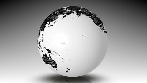 Globe of computing words spinning Animation