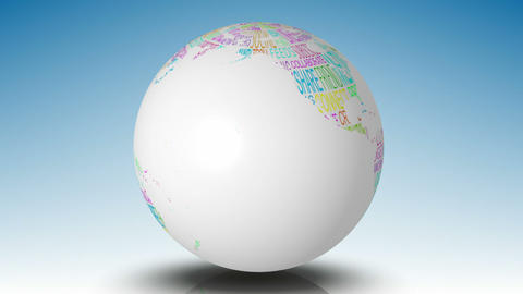 Globe of social media words spinning Animation