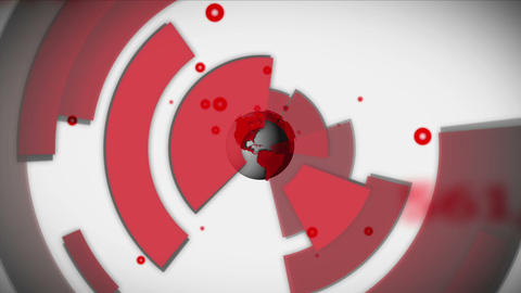 Earth spinning with red cells emulating from it Animation