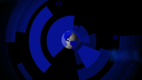 Earth spinning with blue cells emulating from it Animation