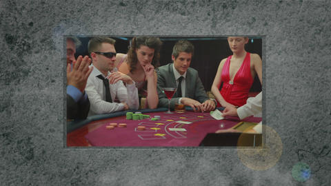 Animation of people in casino Animation