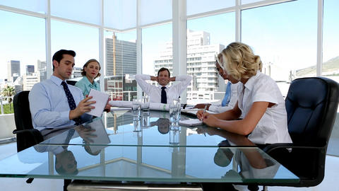 Group of business people brainstorming Footage