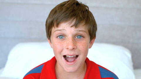 Blue eyed boy get surprised Live Action