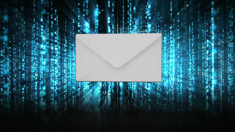 Envelope opening to reveal red warning sign Animation