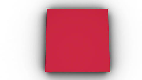 Animation of red book opening and letters floating up Stock Video Footage
