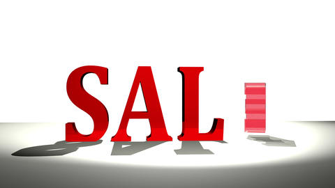 Sale in bold letters animation CG動画