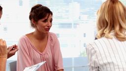 Businesswomen having a conversation Footage