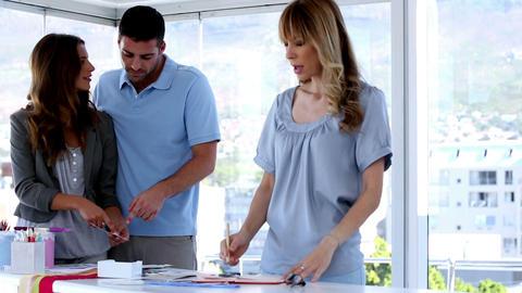 Meeting of interior designer team Stock Video Footage