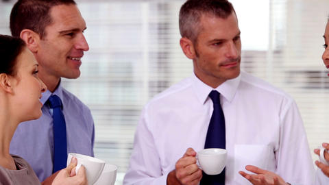 Business people having a coffee together Footage