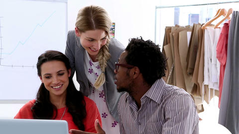 Fashion Designers Working On A Laptop stock footage