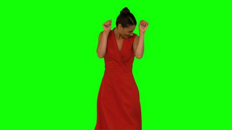 Smiling woman dancing Footage