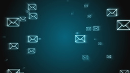 Digital animation of email envelopes floating ever Animation