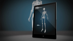 Tablet Computer Showing Medical Interface stock footage