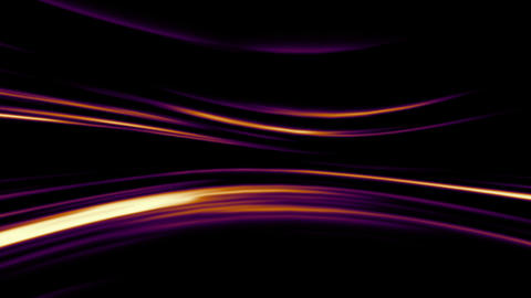 Abstract orange and purple lines on black backgrou Animation