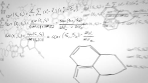 Animation Of Chemical Elements stock footage