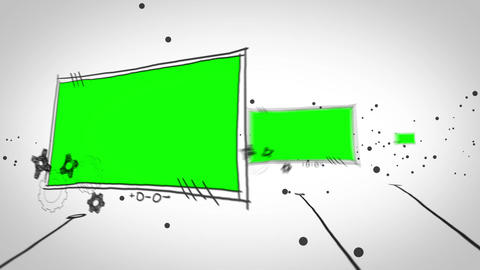 Several green screen popping up Animation
