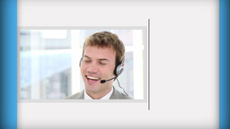 Short clips of call center employees Animation