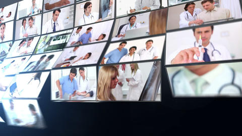 Short clips showing doctors working in hospital Animation