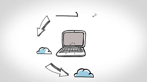 Animation showing cloud computing Animation