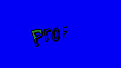 Animation of the slowly appearing word profit Animation