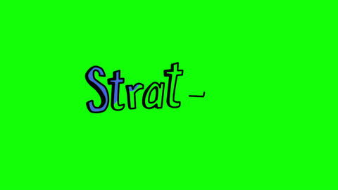 Animation of the word strategy appearing Animation