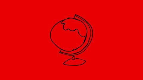 Animation of gestating globe Animation