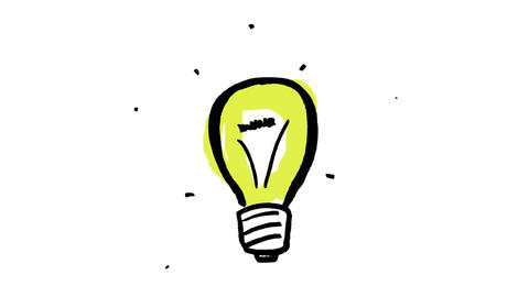 Animation of gestating yellow light bulb Animation