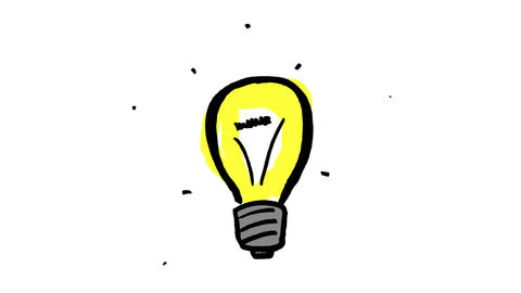 Animation of yellow light bulb Animation