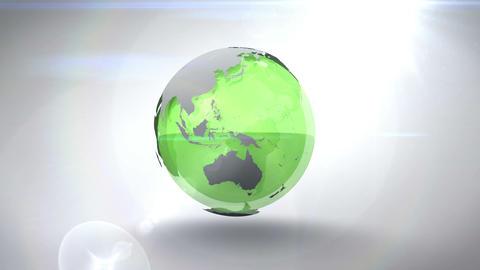 Revolving green earth Animation