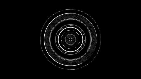 White dial interface moving Animation
