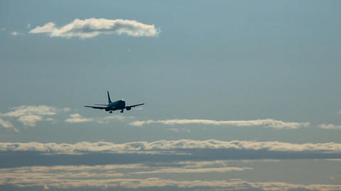 On final approach Stock Video Footage