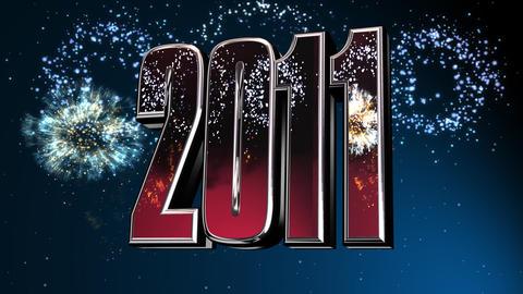 2011 fireworks Stock Video Footage