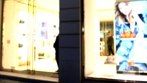 Blue screen beautiful girl shop bag shopping Footage