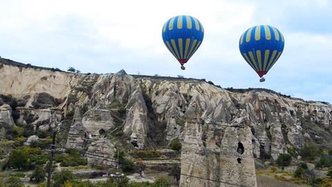 Cappadocia turkey nature baloon fly fairy chimney miracle holiday tourism 2 Footage