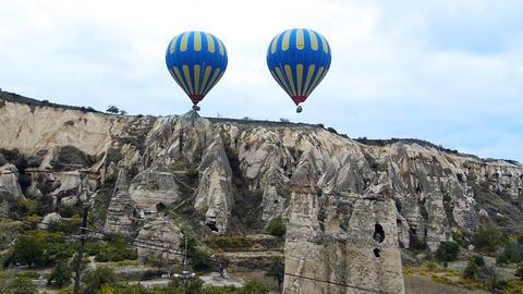 Cappadocia turkey nature baloon fly fairy chimney miracle... Stock Video Footage