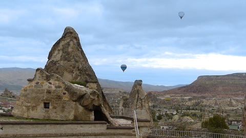 Cappadocia turkey nature baloon fly fairy chimney miracle holiday 3 Footage