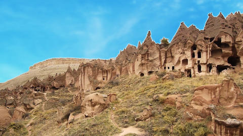 Cappadocia turkey nature cave fairy chimney miracle holiday tourism 8 Footage