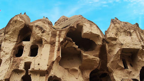 Cappadocia turkey nature cave fairy chimney miracle... Stock Video Footage