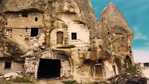 Cappadocia turkey nature cave fairy chimney miracle... Stock Video Footage