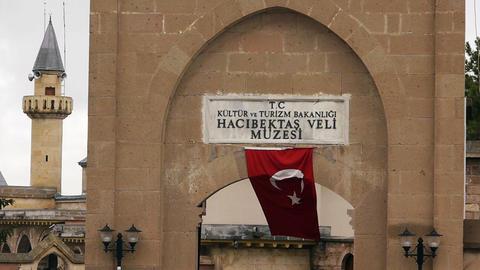 house of haci bektas veli anatolian town mosque house islam sufism 3 Footage