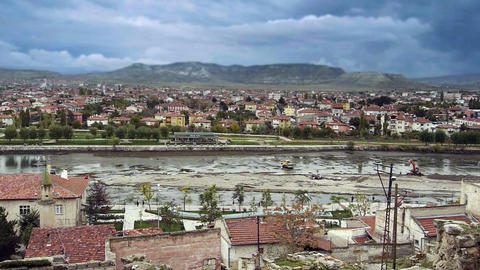Ordinary turkish anatolian town Turkey 2 Footage