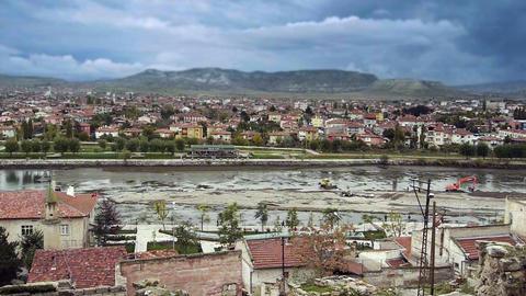 Ordinary turkish anatolian town Turkey 2 Stock Video Footage