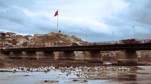 Ordinary turkish anatolian town Turkey 4 Stock Video Footage